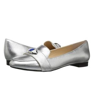 KATY PERRY The Harper Silver Flats Womens size 7.5